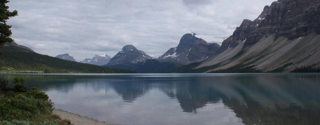 Parque nacional de Banff, lago Bow, Oeste de Canada